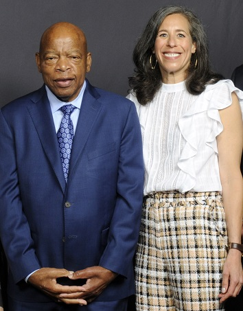 Congressman John Lewis and Betsy at the Moran Center's Justice in Action 2018 Benefit.